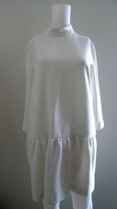 DRESS SANDRO $320.00 SIZE 3 WHITE/CREAM TUNIC STYLISH TAG  #SANDRO #Tunic #Casual