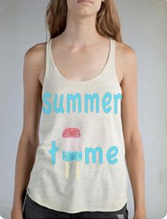 Womens SUMMER TIME Beach Popsicle Ice cream by FreeBirdCloth, $22.00
