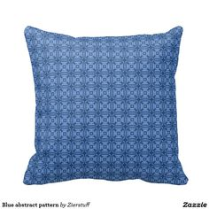 Blue abstract pattern throw pillows