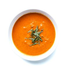 Carrot-Ginger Soup with Chile Butter and Roasted Peanuts Recipe - Bon ...
