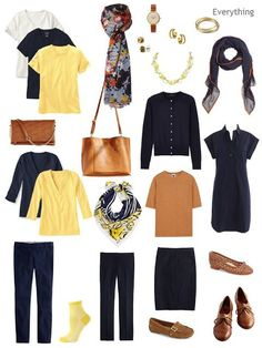 Building a Capsule Wardrobe by Starting with Art: Mulberry Tree by Vincent Van Gogh (revisiting Navy and Cognac) - The Vivienne Files Fall Capsule Wardrobe, Capsule Outfits, Fashion Capsule, Work Wardrobe, Fashion Outfits, Womens Fashion, Curvy Fashion, Travel Outfits, Style Fashion