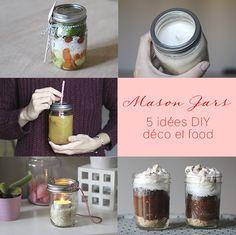 DIY // 5 façons d'utiliser des Mason Jars « Mango and Salt Pot Mason Diy, Mason Jars, Dessert Recipes, Desserts, Recherche Google, Vases, Mango, Projects To Try, Salt
