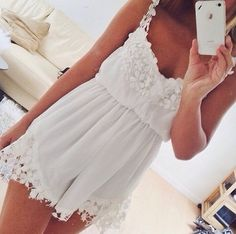 Adorable White Lace Summer Dress