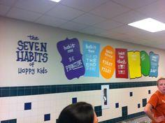 leader in me school hallways School Classroom, I School, Middle School, Classroom Decor, School Office, School Stuff, Classroom Organization, School Hallways, School Murals
