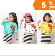http://www.aliexpress.com/store/621900   children clothing female child summer 2013 Retail free shipping cute fashion korean stripes child set girls' dresses