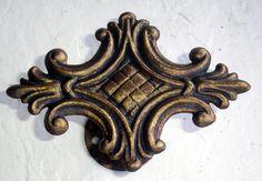 Medium/Large drapery medallion by Metropolis Iron, Inc.  http://metroiron.net/item-10054-5-12-w-x-4-h/
