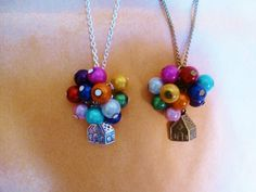 Silver/bronze Necklace or bracelet  or keychain Vintage style Disney UP house and balloons on Etsy, $15.31