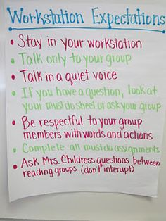 Literacy Center/Workstation Rules – display specific rules for station time. Inc… Literacy Center/Workstation Rules – display specific rules for station time. Incorporate icons for quick reminders. Rules And Procedures, Classroom Procedures, Classroom Rules, Classroom Behavior, Classroom Management, Classroom Ideas, Class Management, Behavior Management, Classroom Posters