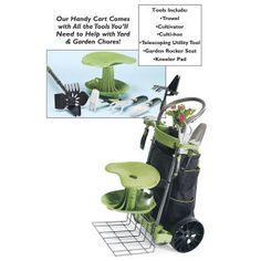 Carry All Cart Comes With Yard And Garden Tools! This Versatile Rolling  Cart Holds Virtually