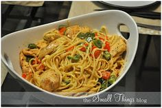 The Small Things Blog: Cajun Chicken Pasta