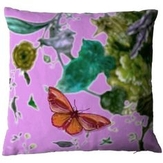 Timorous Beasties Butterfly Blurr in pink, available at Adorn.house, insert included! #interiordesign #design #homedecor #decorativepillow #timorousbeasties #aesthetics