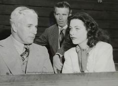 With Hedy Lamarr at a tennis match, c. 1941