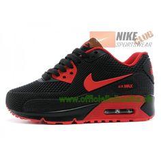Nike Air Max 90 Ps Chaussures Nike Pas Cher Pour Enfant Noir Rouge-Boutique 033c7d8c964b