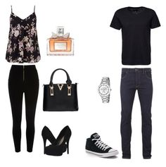 """""""Dream date!"""" by fashiongirl-8808 ❤ liked on Polyvore featuring River Island, Miss Selfridge, Religion Clothing, Converse, Michael Antonio, Game Time and Christian Dior"""