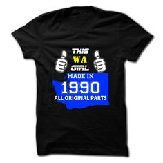 This Washington Girl Made in 【ᗑ】 1990Hey, are you made in 1990 Washington Girl ?  Then, this shirt is for you. If not matching your age and state, pls search accordingly.This Washington Girl Made in 1990