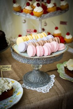 Macarons Back Garden Home Made Jazz Country Wedding http://jamesgristphotography.co.uk
