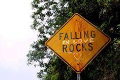 Fallin (in love) rocks !    #Love, #Roadsign, #ValentinesDay