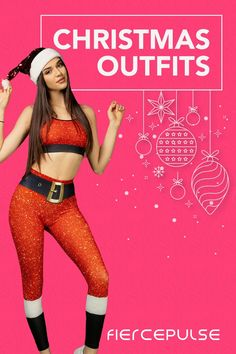 Turn heads in glittering holiday leggings. Shop Christmas Outfits Leggings Outfit Winter, Christmas Leggings, Christmas Party Outfits, Holiday Party Outfit, Athleisure Outfits, Athleisure Fashion, Spring Outfits, Winter Outfits, Casual Outfits