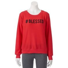 Juniors' Pop Upx Shine Hashtag ''Blessed'' Sweatshirt $17.99 on sale, everybody is blessed so why not show it. Go over to Kohl's before it goes back to $34.00.