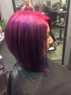 Magneta to purple funky aline