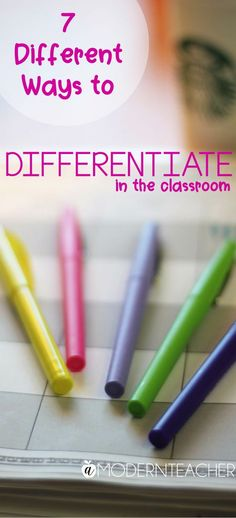 Don't know where to start with differentiation? These 7 ways to differentiate can help you get started in your classroom today! Differentiation Strategies, Differentiation In The Classroom, Differentiated Instruction, Teaching Strategies, Teaching Tips, Teaching Career, Teaching Biology, Teacher Tools, Teacher Resources
