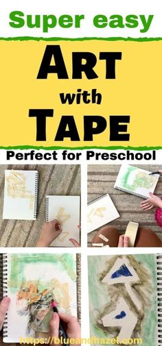 Try this fun and easy preschool art project! Called tape resist art, it's an easy craft for any age with almost zero prep and easy clean up. for kindergarten Kindergarten Art Projects, Homeschool Kindergarten, Preschool At Home, Science Fair Projects, Preschool Activities, Steam Activities, Preschool Learning, School Projects, Outdoor Activities