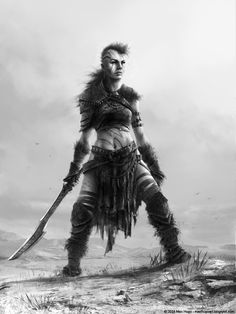 Barbarian Girl by Max Hugo