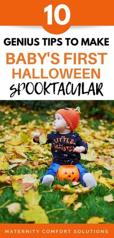 Baby's First Halloween tips to make the holiday spooktacular and stress-free for you and your baby! Baby's first Halloween can be memorable with these creative ideas! Baby First Halloween, Baby Halloween Costumes, Halloween Activities, Halloween Baby Photos, Family Halloween, Halloween Cans, Halloween Ideas, Before Baby, Newborn Care
