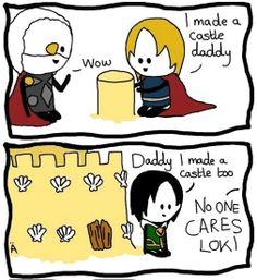 Loki's harsh childhood