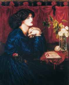 'Jane Morris (The Blue Silk Dress)' by Dante Gabriel Rossetti, 1868. Apparently letters from Jane to Rosetti indicate she made the dress herself.