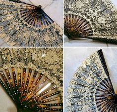 Yup, I collect fans..none as beautiful as these in this  1880s fan collection