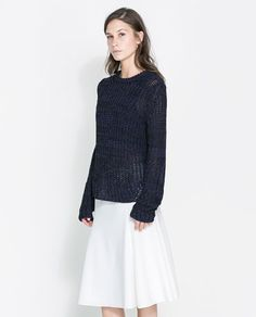 Image 2 of TWO-TONE KNIT SWEATER from Zara