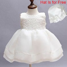 Newborn Dresses For Baby Girls Christening Gowns Kids Baptism Dress Princess Lace Satin Embroidery Formal Toddler Girl Dresses