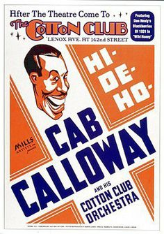 (17x24) Cab Calloway at Cotton Club Jazz POSTER RARE Harlem NYC decorate your walls with this brand new poster. easy to frame and makes a great gift too. ships quickly and safely in a sturdy protective tube. measures 17.00 by 24.00 inches (43.18 by 60.96 cms).  #OnlineWall_Art_and_Framing #Home