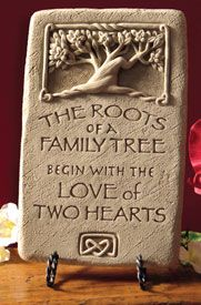 Roots of a Family Tree begin with the love of two hearts (I want to paint this on a sign!  maybe with the couple's names, or family name ~hw)    #FamilyTree #LDSFamilySearch