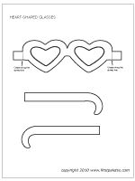 Heart-shaped glasses template