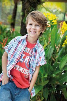 Conjunto Infantil Masculino Camisa, Camiseta e Bermuda - DL Boys