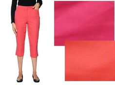 Liz Claiborne cropped pants colored women's sizes; 8P, 10P, 12P, 14 NEW  19.99 FREE Expedited Shipping http://www.ebay.com/itm/Liz-Claiborne-cropped-pants-colored-womens-sizes-8P-10P-12P-14-NEW-/251426493455?ssPageName=STRK:MESE:IT