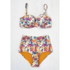 Pinup High Waist On a Tide Note Swimsuit Top ($50) ❤ liked on Polyvore featuring swimwear, bikinis, bikini tops, white tankini top, white high waisted bikini, tankini tops, high waisted bikini and white swim top