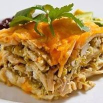 Left over Turkey Green Chili Lasagna!  Just use our Casa Corona Green Enchilada Sauce to flavor your turkey!  Easy peasy... :)