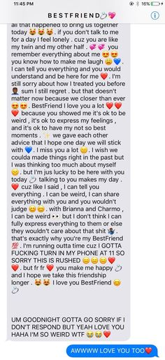 cute best friend paragraphs