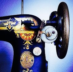 Indigo sewing machine