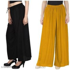 Checkout this latest Palazzos Product Name: *New Fabulous Rayon Women's Palazzos Combo * Fabric: Rayon Waist Size: Up To 28 in To 42 in (Free Size ) Length: Up To 39 in Type: Stitched Description: It Has 2 Pieces Of Women's Palazzos  Pattern: Solid Country of Origin: India Easy Returns Available In Case Of Any Issue   Catalog Rating: ★4 (755)  Catalog Name: Lasafiya Fabulous Rayon Women's Palazzos Combo CatalogID_558946 C79-SC1039 Code: 363-3962475-498