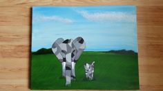 Wildlife Wanderers - Original acrylic painting on A3 canvas
