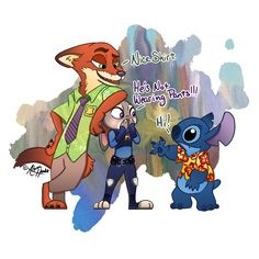 Stitch In Zootopia by PhantomPhoenix4.deviantart.com on @DeviantArt