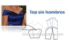 Dress Sewing Patterns, Sewing Patterns Free, Clothing Patterns, Pattern Sewing, Gown Pattern, Collar Pattern, Patron Vintage, Modelista, Black Dress With Sleeves