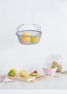 Make the most of your small kitchen. To utilize every bit of surface you can, make this useful hanging fruit basket that won't take up any table or counter space.