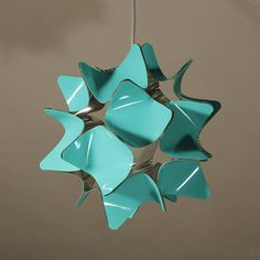 Soft blue interior lampshade