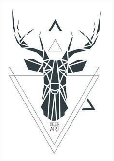 geometric deer tattoos ile ilgili görsel sonucu