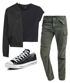 """""""Untitled #234"""" by preppedinpolos on Polyvore featuring Monki, Topshop and Converse"""